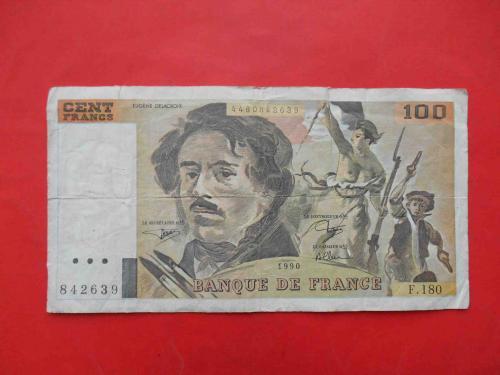 Франция 1990 100 франков