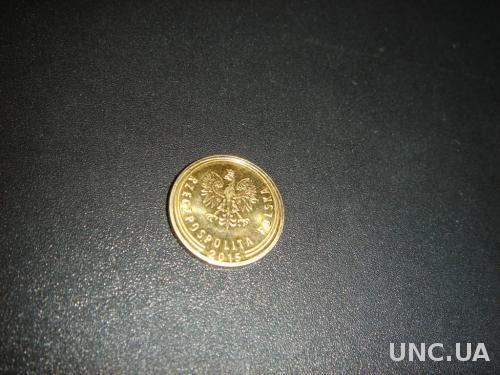 Монета 2 Grosze (гроша). Польша. 2015 года. Магнитная.
