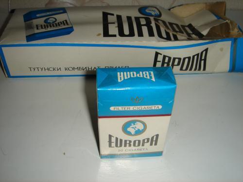 Продам пачку сигарет ЕВРОПА (EUROPA). Югославия. Страны нет, а сигареты есть.