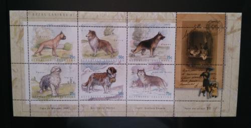 Аргентина- Собаки -1999. Чистый М/Лист из 6 марок. MNH.