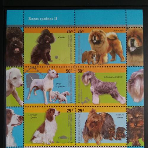 Аргентина - Собаки - 2006. Чистый М /Лист из 6 марок.MNH.