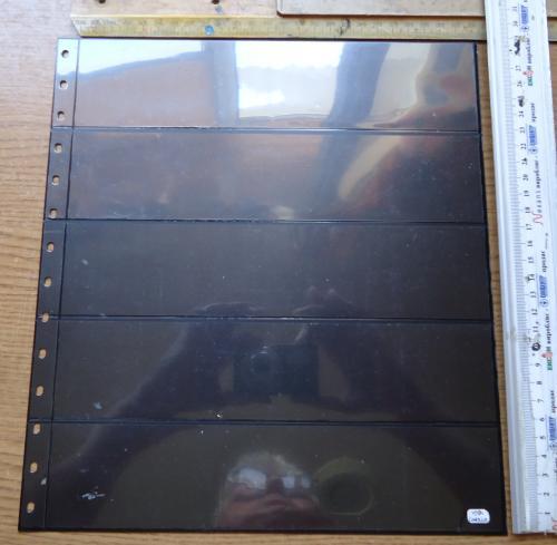 2 Листа для бон или марок двусторонние 27см*30см-5 полос, с чорной подкладой