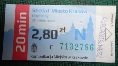 Билет КРАКОВ-ПОЛЬША