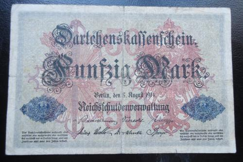 Германия 50 марОК 1914