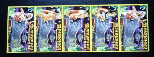 Лотерейный билет -моментальная лотерея-АМАЗОНКА -5ШТ -образец