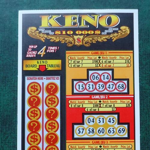 Лотерейный  билет -моментальная лотерея-КАНАДА -образец