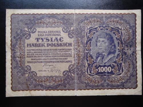 Польша 1000 марок 1919