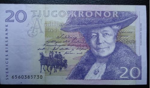 Швеция  20 крон 1998