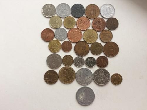 Лот монет мира!!! 31 шт. !!! Повторов нет!!!
