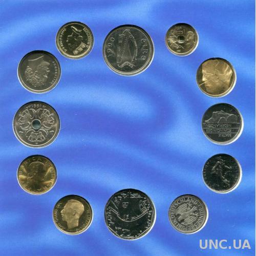 Европа набор монет ROYAL MINT UNC Буклет!
