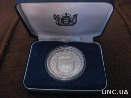 Новая Зеландия 1 доллар 1979 ПРУФ ВОХ серебро