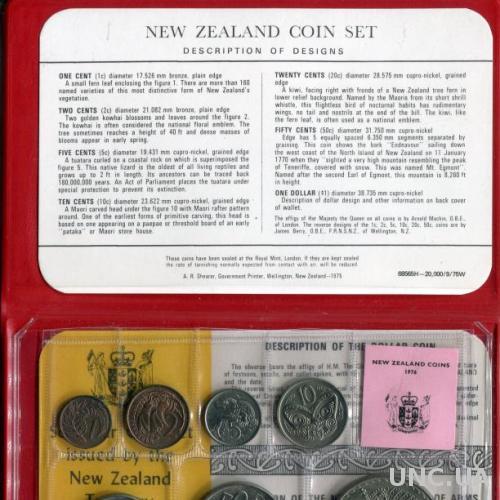 Новая Зеландия 1976 Банковский набор UNC буклет