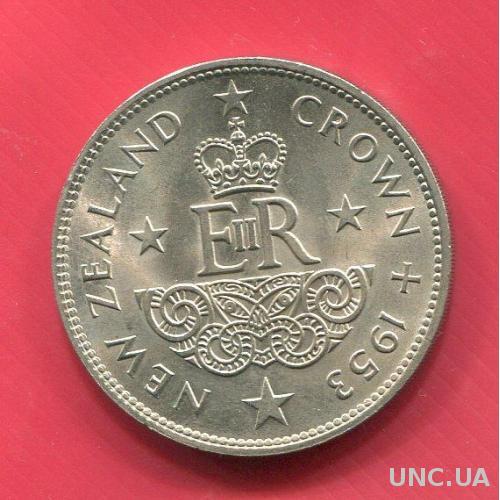 Новая Зеландия Крона 1953 UNC Коронация