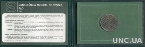 RAR!!! Португалия 250 эскудо 1983 - 1984 UNC Буклет,Рыбная конференция