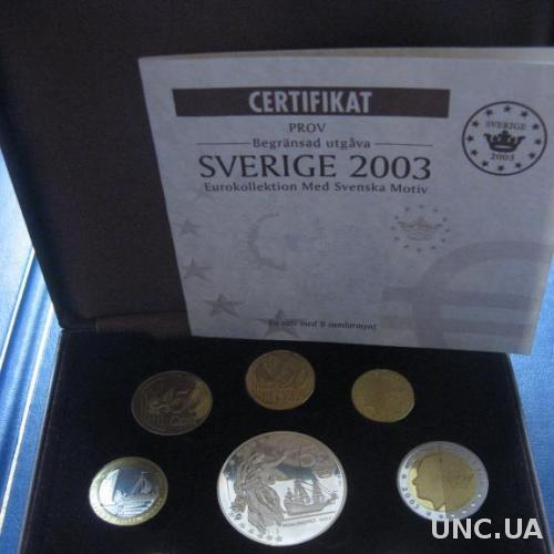 RAR! Швеция 2003 набор  ВОХ Парусники ( 9 монет)