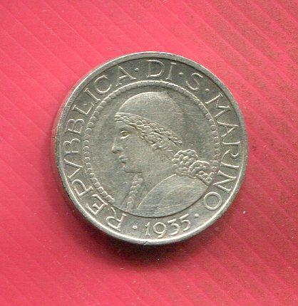 Сан Марино 5 лир 1935 серебро Состояние!