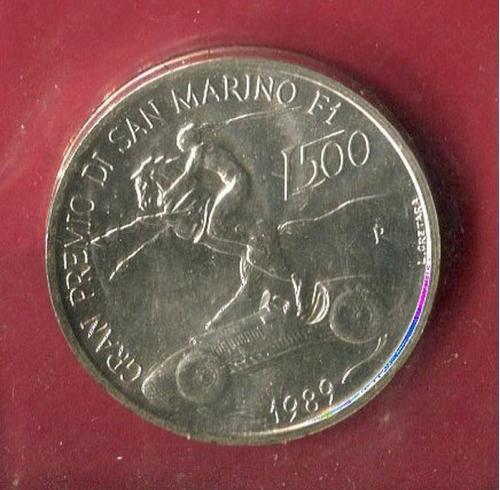 Сан Марино 500 лир 1989 UNC серебро Формула F 1