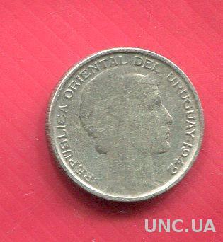 Уругвай 20 сентаво 1942 XF++ серебро