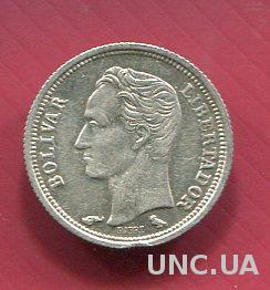 Венесуэла 25 сентимос 1960 UNC серебро