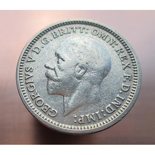 3 пенса 1934г. Серебро. Оригинал.
