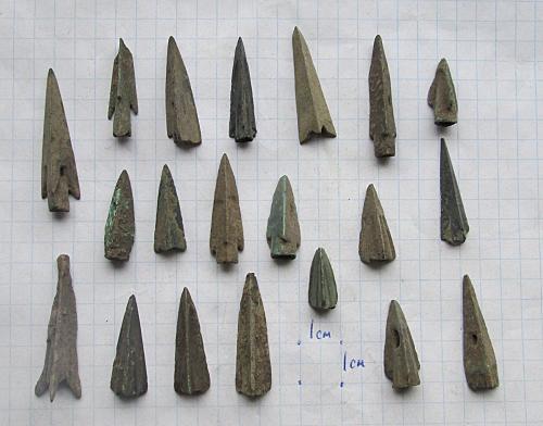 Скифские наконечники, 4-3 век до нашей эры.