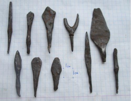 наконечники хазары.  11-1 3 век  нашей эры.