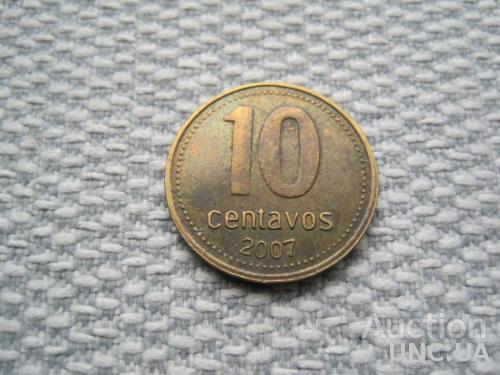 Аргентина, 10 сентаво 2007 года (L355)