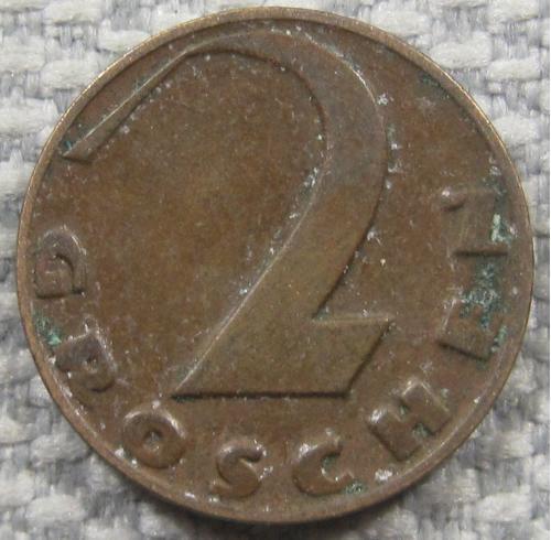 Австрия 2 гроша 1936 года #13071
