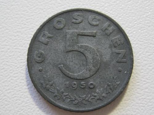Австрия 5 грошей 1950 года #35346