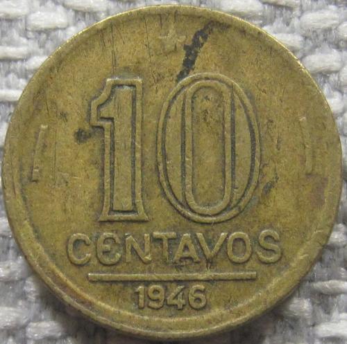 Бразилия 10 сентаво 1946 года #12595