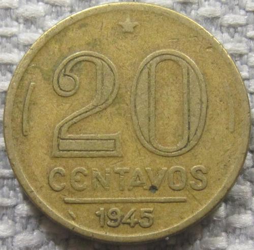 Бразилия 20 сентаво 1945 года #12585