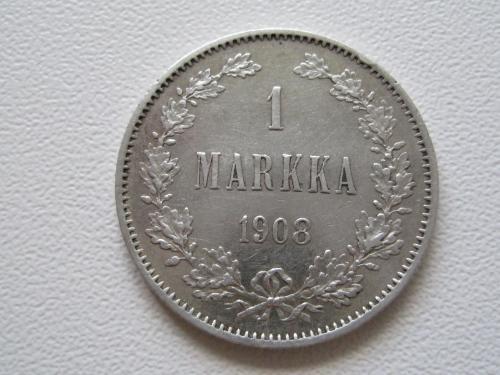 Финляндия 1 марка 1908 года. R! #11171