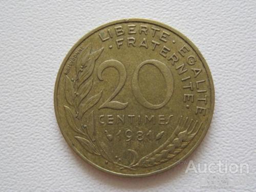 Франция 20 сантимов 1981 года #9709
