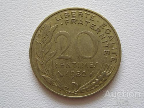 Франция 20 сантимов 1982 года #9712
