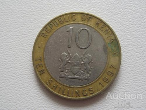 Кения 10 шиллингов 1997 года #7753