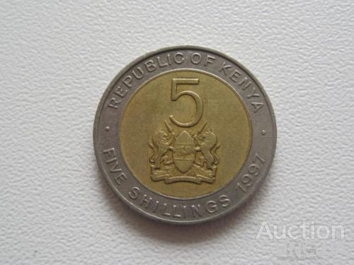 Кения 5 шиллингов 1997 года #7746