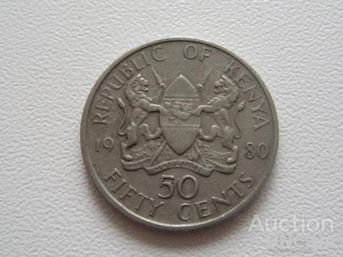 Кения 50 центов 1980 года #7720