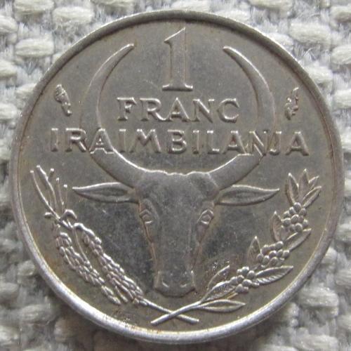 Мадагаскар 1 франк 1975 года #12362