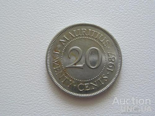 Маврикий 20 центов 1987 года #8058