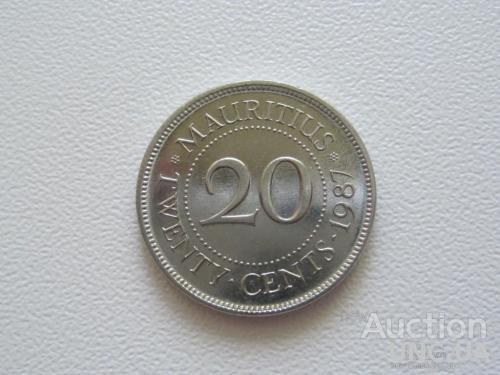 Маврикий 20 центов 1987 года #8059