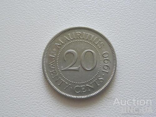 Маврикий 20 центов 1990 года #8060