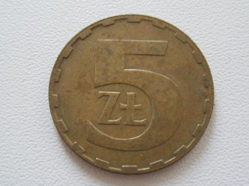 Польша 5 злотых 1987 года #13825