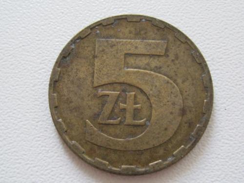 Польша 5 злотых 1987 года #13826