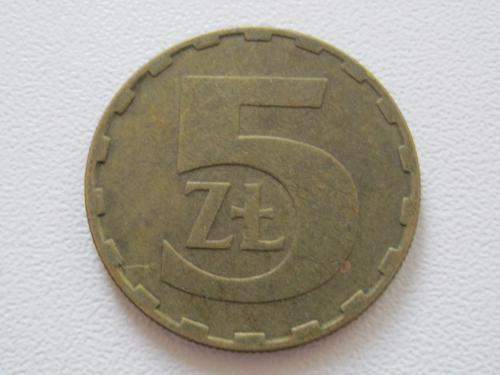 Польша 5 злотых 1987 года #13827