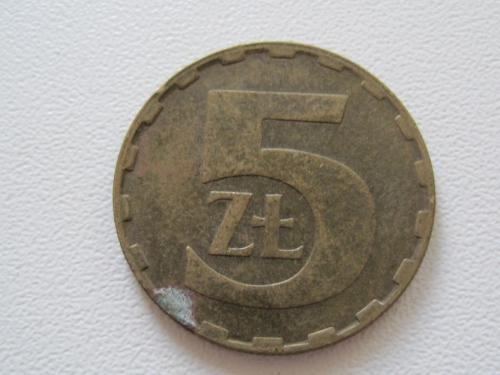 Польша 5 злотых 1987 года #13829