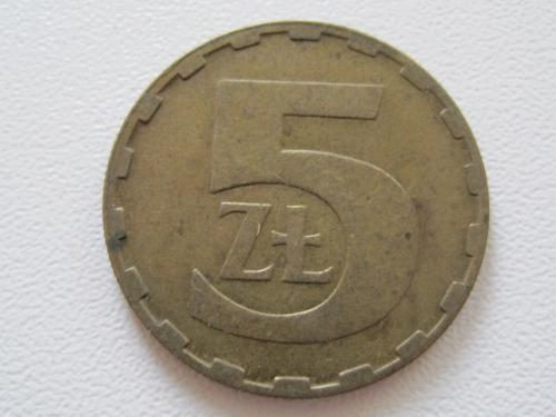 Польша 5 злотых 1987 года #13830