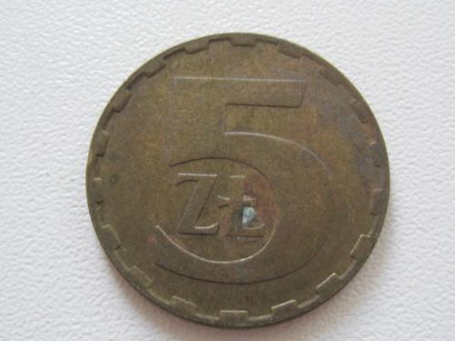 Польша 5 злотых 1987 года #13831