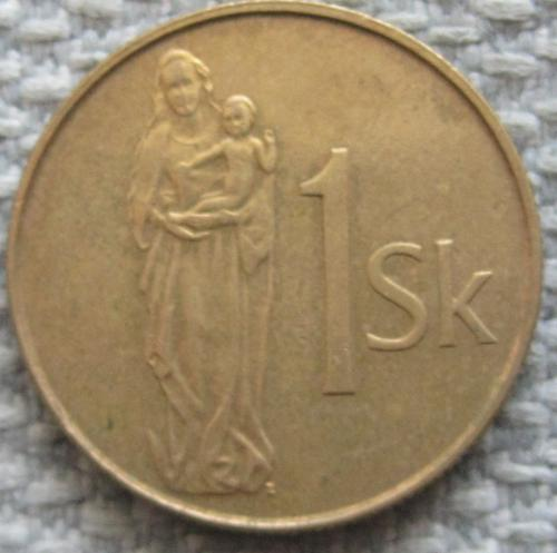 Словакия 1 крона 1995 года #11989