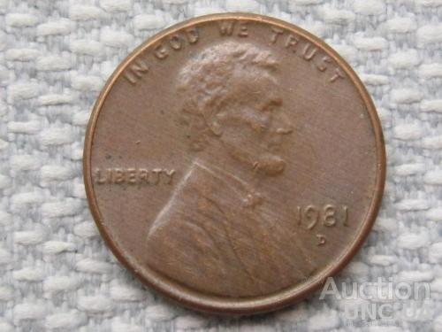 США, 1 цент 1981 года D #1695