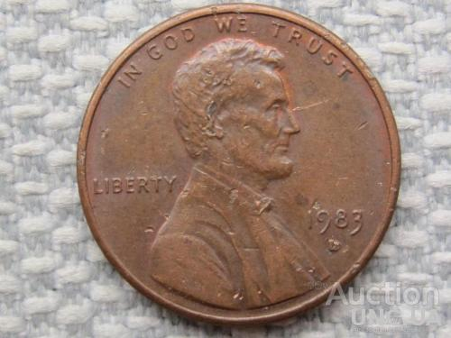 США, 1 цент 1983 года D #1703